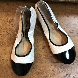Folding ballet shoes